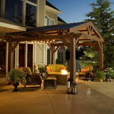 outdoor greatroom company lodge ii 14 x 14 foot wood pergola