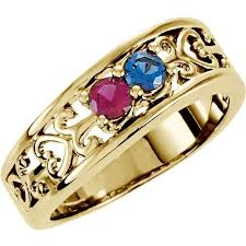 2 mothers ring gold 2 to 3 stones s ring