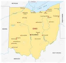 Ohio Map With Cities by Simple Ohio State Map Royalty Free Cliparts Vectors And Stock
