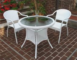 Wicker Bistro Chairs 30 Resin Wicker Bistro Set With 2 Chairs In 5 Colors