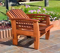 Wooden Recliner Chair Reclining Redwood Easy Chair Outdoor Wood Recliners