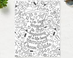 printable page of quotes printable adult coloring pages instant download printable