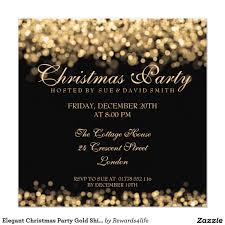 Christmas Cards Invitation Elegant Christmas Party Gold Shimmering Lights 5 25x5 25 Square