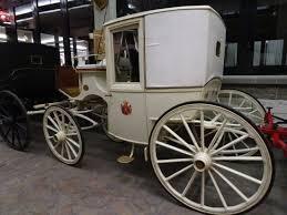 carrozze antiche berlina della principessa sissi foto di museo mostra permanente