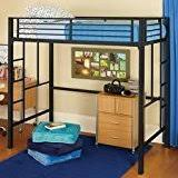 amazon com your zone metal loft twin bed by superindoor kitchen