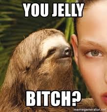 You Jelly Meme - you jelly bitch the rape sloth meme generator