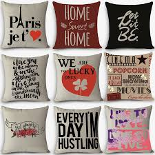 cheap price high quality home decorative pillow love sweet words cheap price high quality home decorative pillow love sweet words printed 45x45cm pillowcase vintage cotton linen pillows in bedding pillows from home