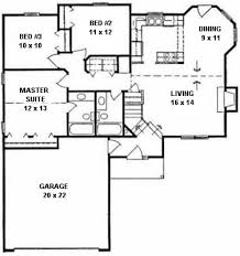 1100 Sq Ft House Plan 1120 Ranch Style Small House Plan W 3 Bedrooms And 2 Baths