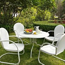 decor fashion white metal folding patio outdoor furniture with for