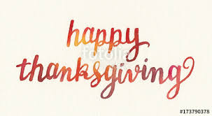 happy thanksgiving watercolor painting painted lettering or