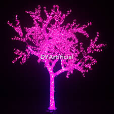 4000 led 300cm high artificial pink lighted trees dongyi