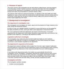 investigation report template investigation template investigator resume commonpence