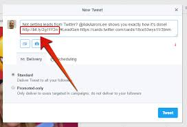 read how to send a tweet with a clickable image