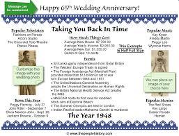 65th wedding anniversary gifts 65th anniversary print wedding anniversary gifts wedding