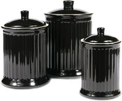 extraordinary inspiration black canister sets for kitchen