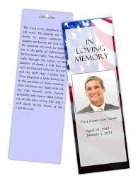 memorial program templates funeral program templates memorial bookmark patriotic us template