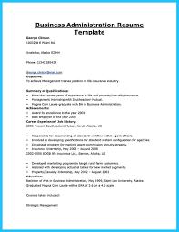 Best Business Resume Appealing Formula For Wonderful Business Administration Resume