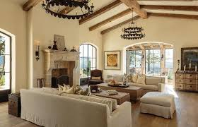 Cathedral Ceilings In Living Room Mediterranean Living Room With Cathedral Ceilings Mediterranean