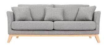 canap gris 3 places canapé scandinave 3 places gris clair déhoussable pieds bois oslo