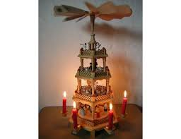 imposing ideas candle carousel santa chimes brass