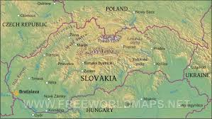 Middle East Geography Map by Slovakia Physical Map