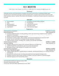 Resume Example Templates Resume Templates For Administrative Assistant Gfyork Com