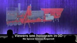 20 ft wide giant 3d hologram projector large scale hologram