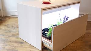 modern kitchen brooklyn small apartment hydroponic kitchen island design by analog modern