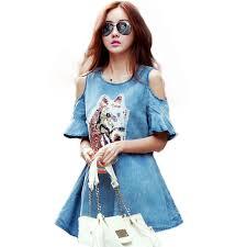 aliexpress com buy women dress large dresses denim dress summer
