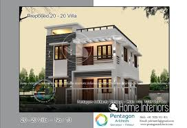 1382 Square Feet 3 Bhk Contemporary 20 20 Home Villa 13 Design 20 Square Home Designs