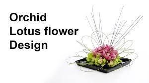 Orchid Flower Arrangements Orchid Lotus Flower Arrangement Ideal For A Coffee Dinner