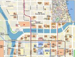 Chicago Cta Train Map by Red Paw Technologies Chicago Loop Near North Side