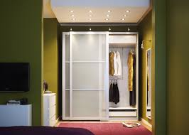 Glass Doors For Closets Ideas Wardrobe Cabinet With Shelves Storage Sauders Wall