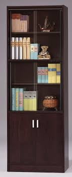 Modern Bookcases With Doors Astonishing Modern Bookcase With Sliding Doors Pictures Best