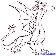 easy drawings of dragons how to draw a dragon realistic dragon