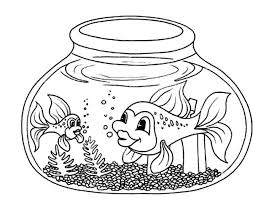 fish bowl coloring pages getcoloringpages