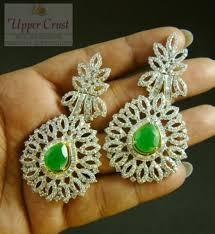 danglers earrings design buy designer cubic zircone dangler earrings online