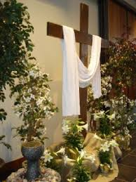 easter church decorations and environment holy family catholic community in fond du lac