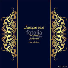 background design navy blue navy blue background with golden royal borders stock image and