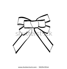 engraved ribbon bow ribbon gift vintage woodcut engraved stock vector 562643740