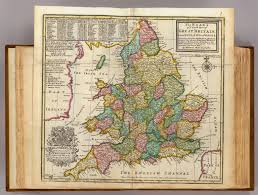 Map Of England And Wales The Roads Of England And Wales David Rumsey Historical Map