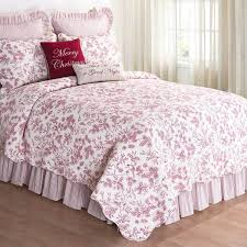Ideas For Toile Quilt Design Pink Toile Bedding Brilliant Quilts And Comforters Farmhouse By