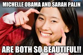 Meme In Japanese - michelle obama and sarah palin are both so beautiful stuff