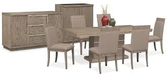 the gavin dining collection graystone value city furniture