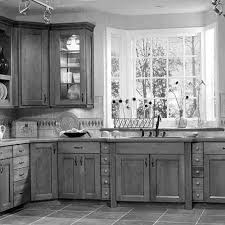 Two Toned Painted Kitchen Cabinets Furniture Cozy Laminate Tile Flooring With American Woodmark And