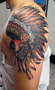 headdress american tattoo real photo pictures images and