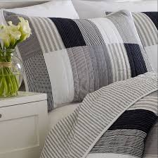 nautica bed pillows standard nautica brunswick navy gray white black quilted