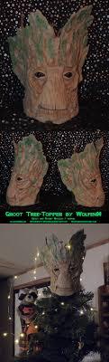 custom groot tree topper that turns an ordinary tree