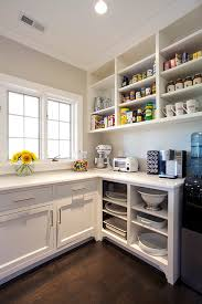 Kitchen Pantry Shelving by Chic Kitchen Pantry Features White Shaker Cabinets Fitted With