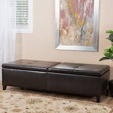 Large Storage Ottoman Bench Alfred Faux Leather Large Storage Ottoman Bench By Christopher
